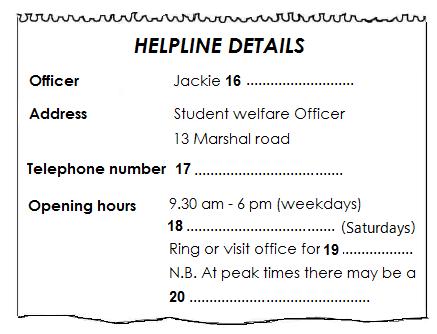 Helpline Details
