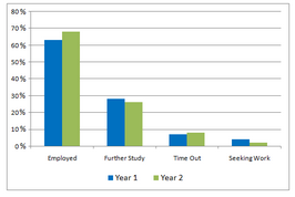 Bar Graph - Business and engineering graduates