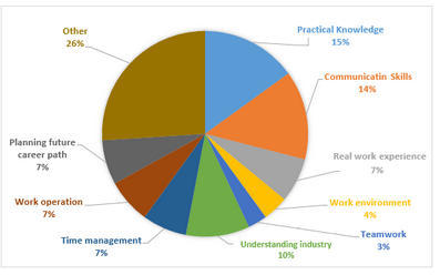 What important aspects internship students have learned